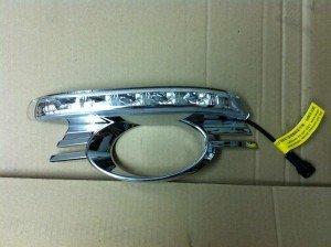 kit de Luz diurna de LEDs y rejilla para Mercedes W204 Clase C 07-